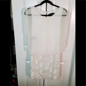 White Aiden Mattox Greek Goddess Dress